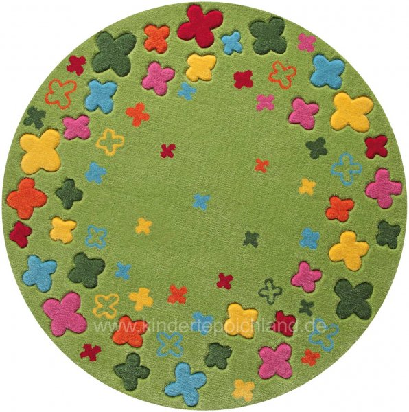 "ESPRIT Kinderteppich ""Bloom Field"" grün rund"