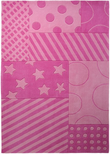 "ESPRIT Kinderteppich ""Stars and Stripes"" pink"