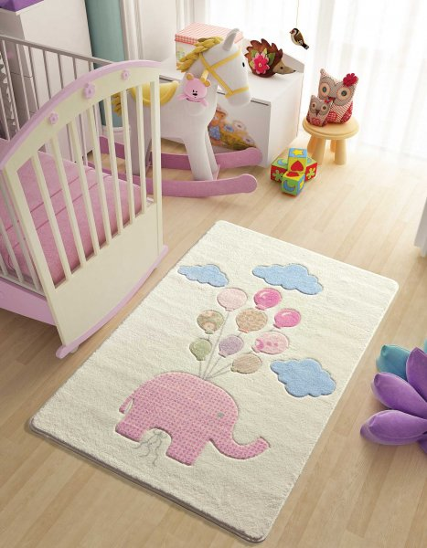 bambino kinder und babyteppich pinki der elefant kaufen. Black Bedroom Furniture Sets. Home Design Ideas