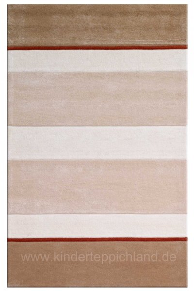"Kinderteppich ""Stripes"" beige"