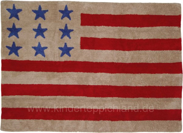 "Kinderteppich Lorena Canals ""US-Flagge"""