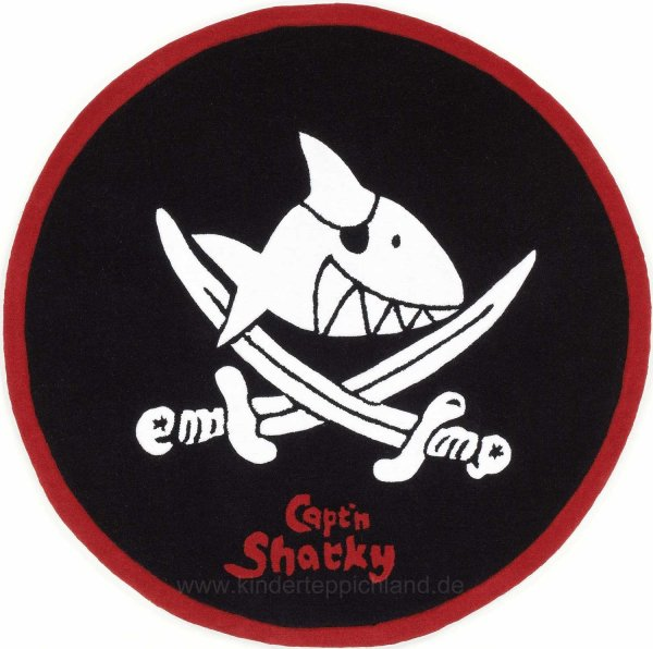 "Kinderteppich ""Capt'n Sharky - Rundherum"""