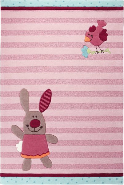 "Sigikid Teppich ""3 Happy Friends"" Stripes"