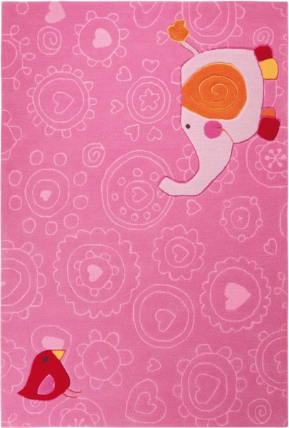 "Sigikid Teppich ""Happy Zoo"" Elephant pink"